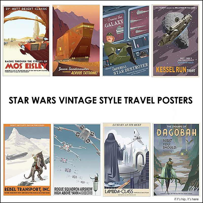 Star Wars Vintage Travel posters