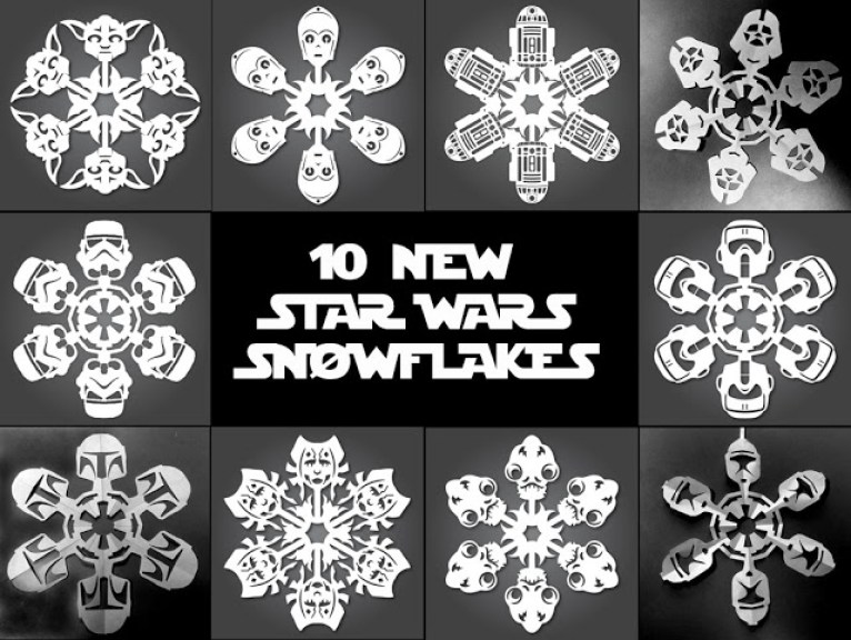 Star Wars Snowflakes and Templates To Make Your Own – if it\'s hip ...