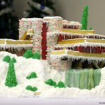 Frank Lloyd Wright's Fallingwater Reproduced In Gingerbread. Incredible Edible Architecture.
