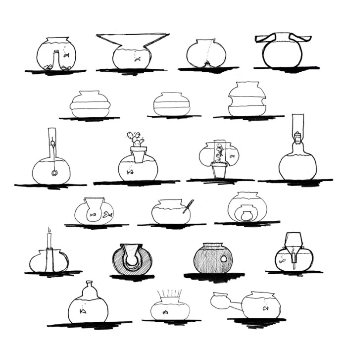 roger arquer fishbowl-sketches