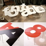 Fontable Letter & Number Tables Spell Out C-O-O-L.