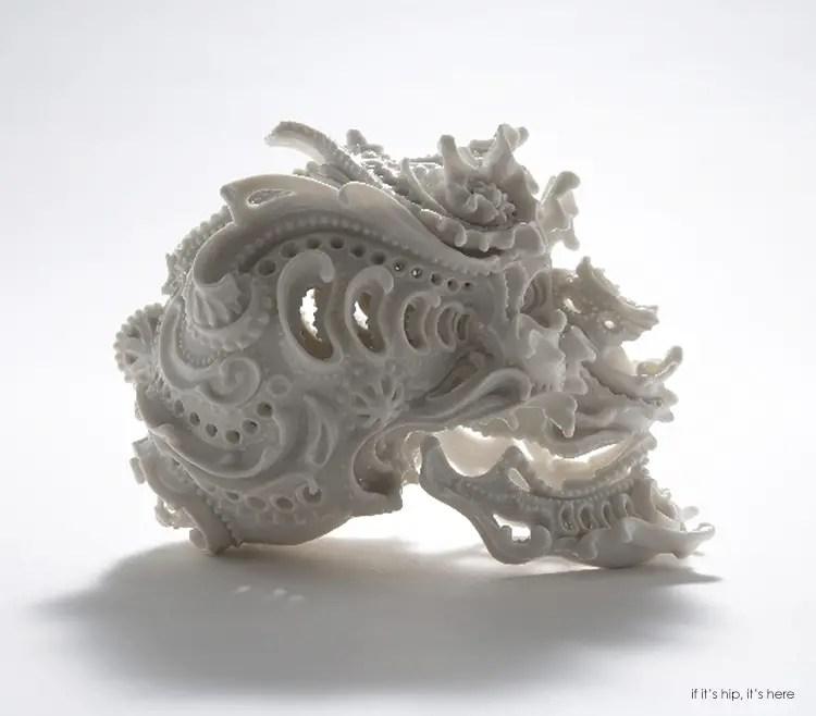 Katsuyo porcelain skull11