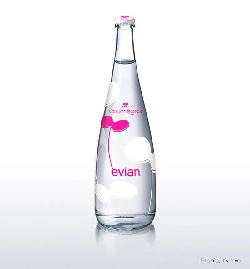 courreges evian bottle
