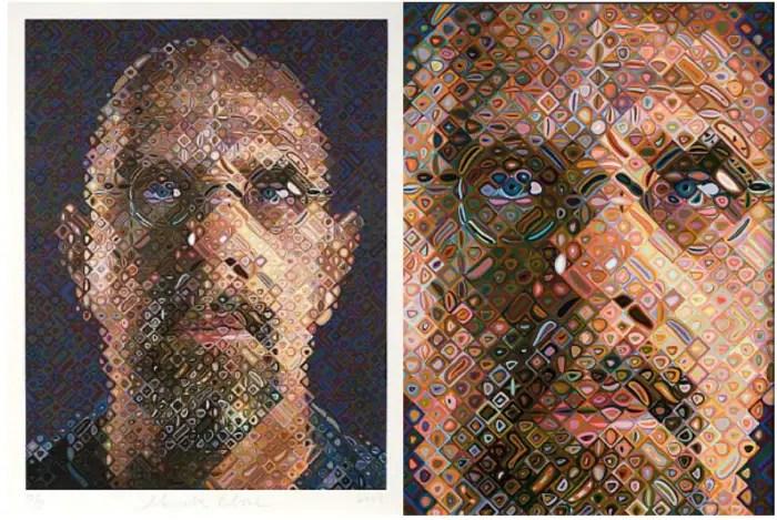 Chuck Close, Self Portrait, 2007