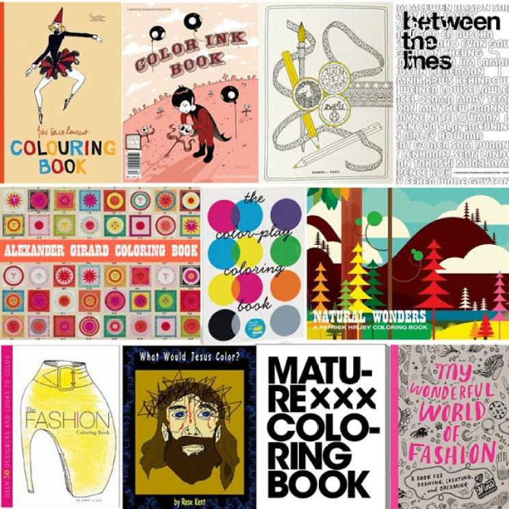 coolest coloring books for grown-ups