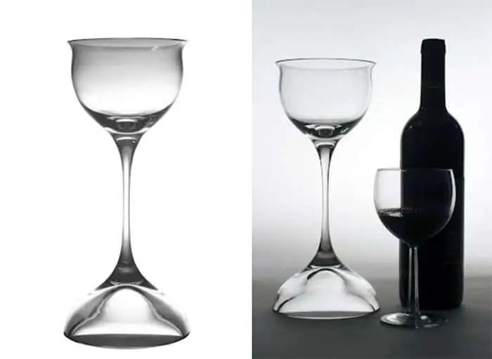 bombay sapphire glassware by Eva Zeisel