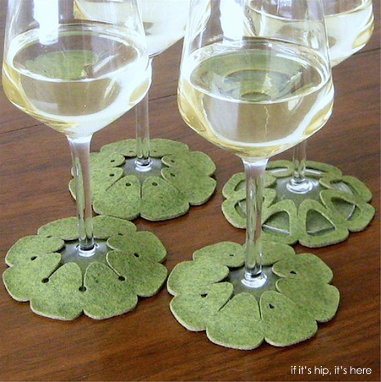Stay On Coasters for Wine Glasses