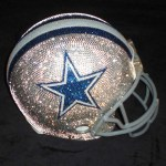 Blinged Out Brain Buckets. NFL Helmets With Hand Applied Swarovski Crystals.