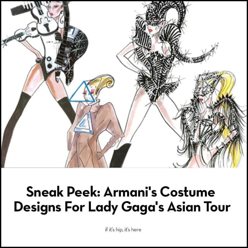 armani costume designs for lady gaga
