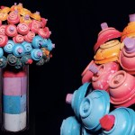 Turning Discarded Graffiti Spray Cans And The Leftover Paint Inside Them Into Art.