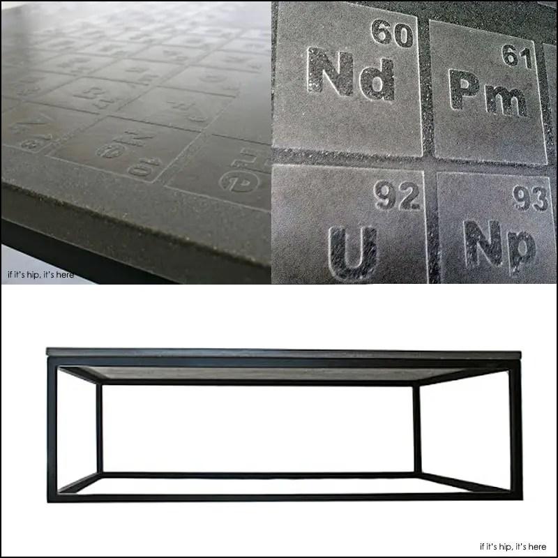 Periodic Concrete Coffee Table