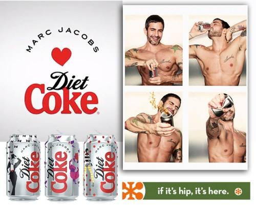 Read more about the article Designer Marc Jacobs' First TV Spot and New Can Designs For Diet Coke.