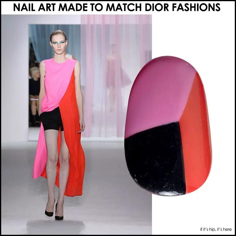 Nail Art That Matches Dior Fashions