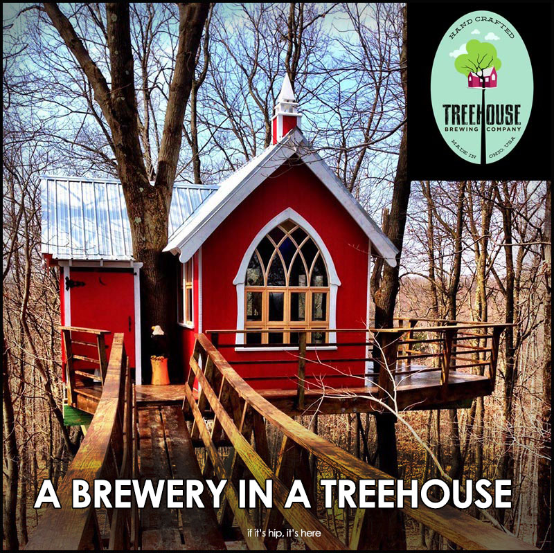 Brewery in a treehouse
