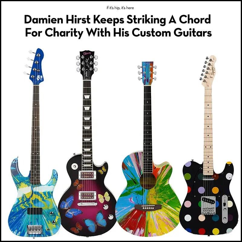 damien hirst custom guitars for charity