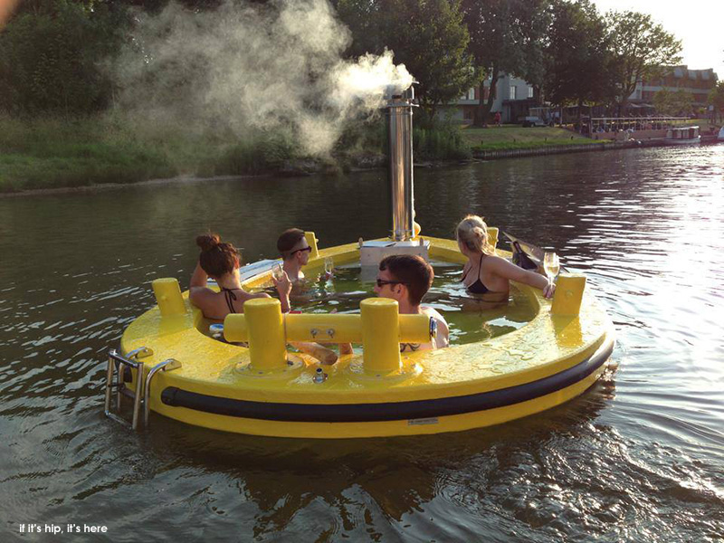 The HotTug Motorized Hot Tub Seats 6 Comfortably.