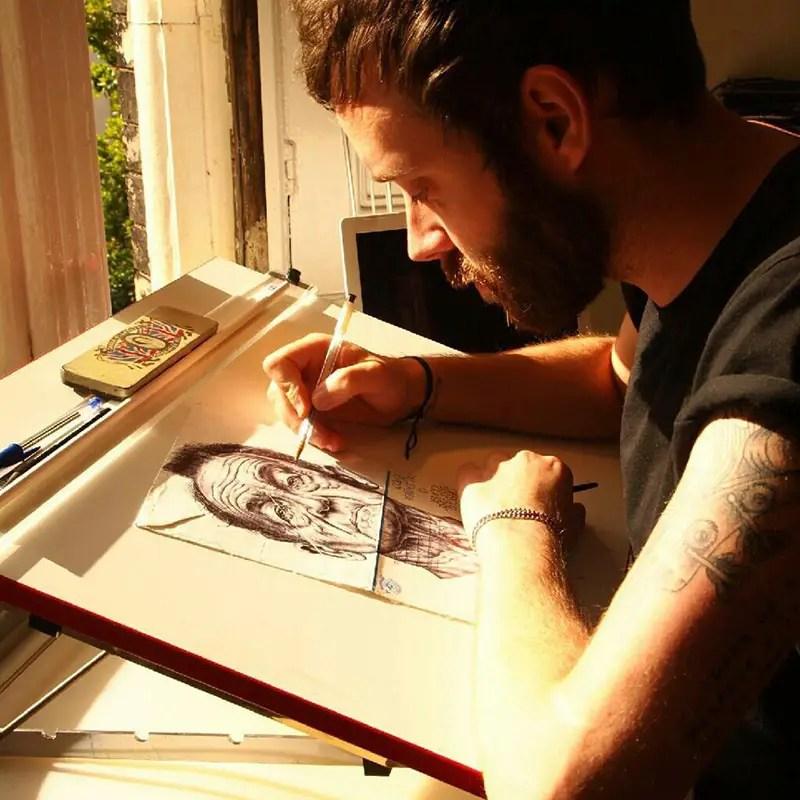 Ballpoint Pen Portraits by Mark Powell