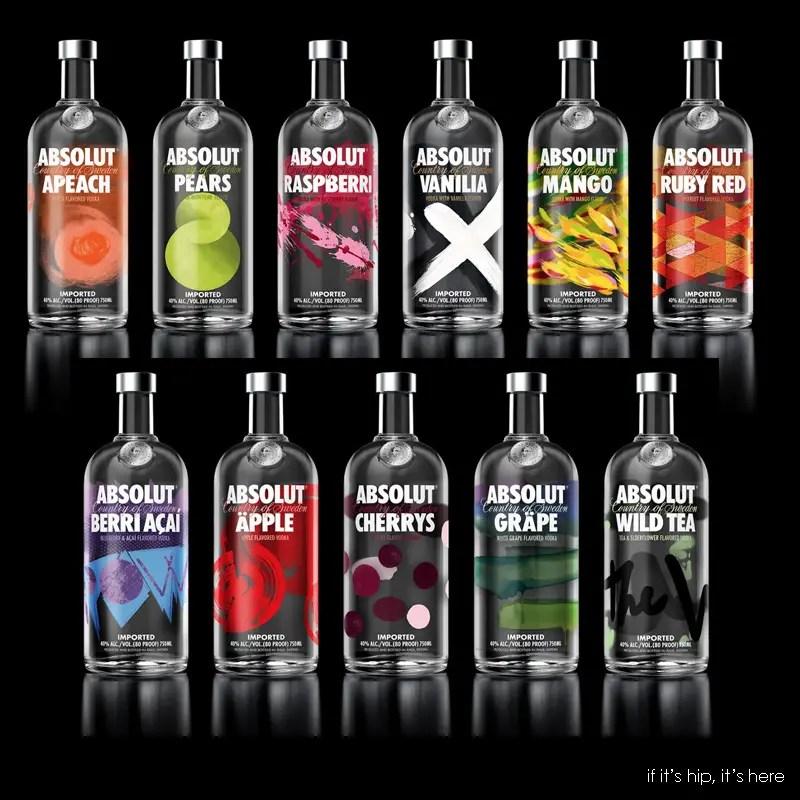redesigned absolut vodka bottles