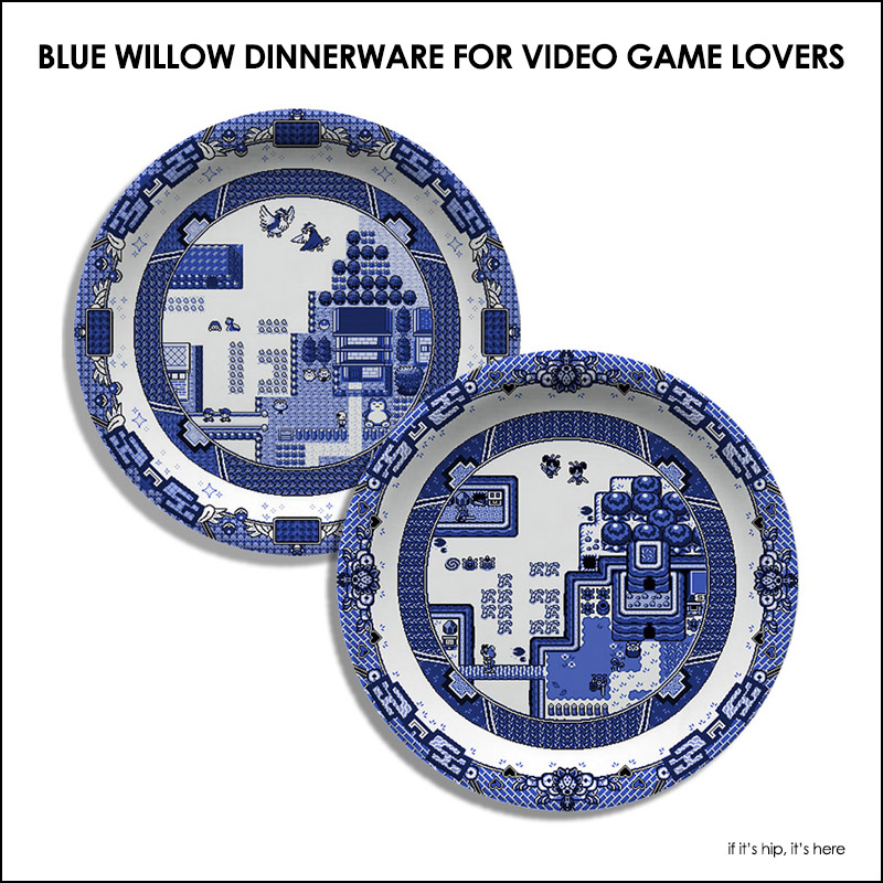 blue-willow-dinnerware-for-video-game-lovers  sc 1 st  If Itu0027s Hip Itu0027s Here & Blue Willow Dinnerware For Video Game Lovers by Olly Moss