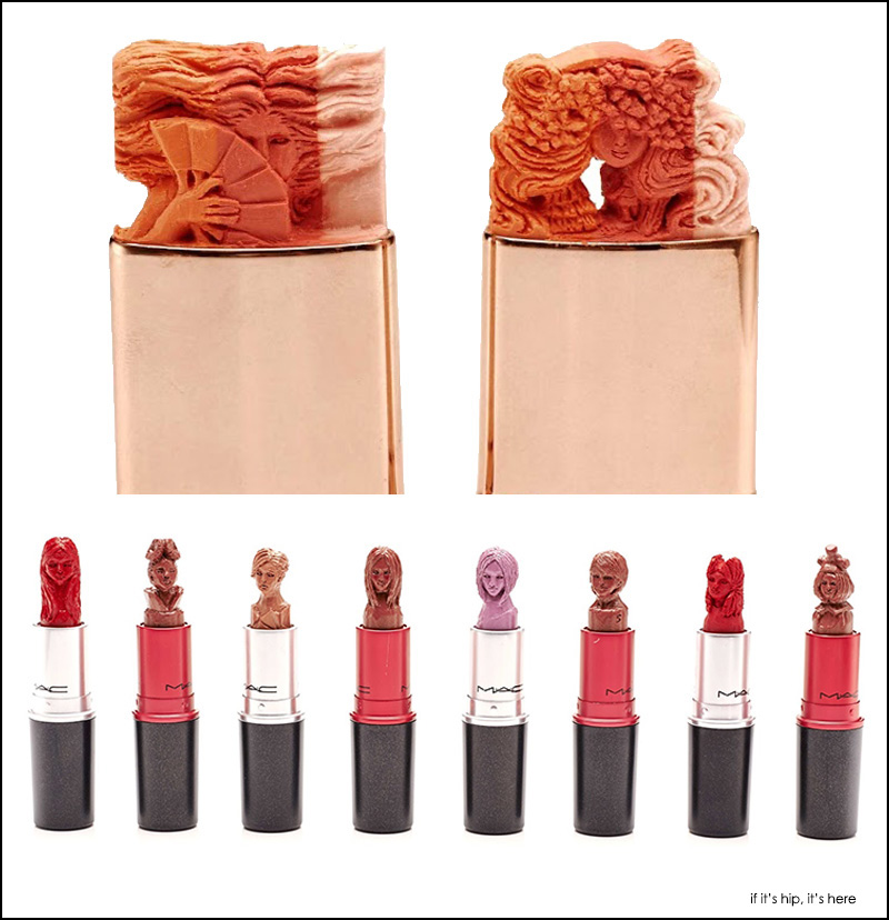 maya sum lipstick sculptures