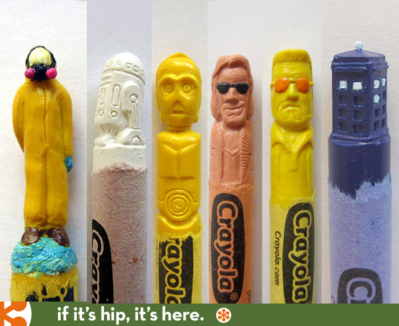 Pop Culture Carved Crayons