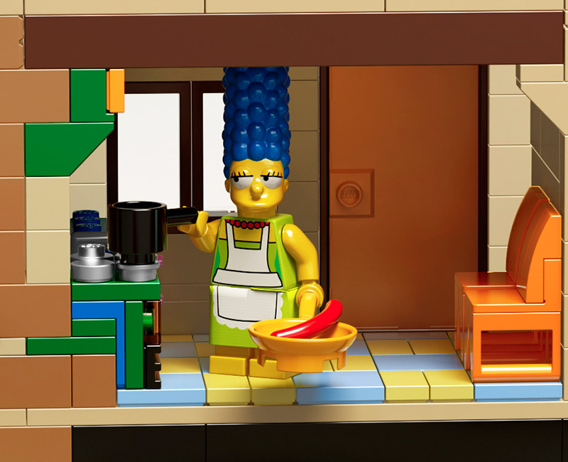 Lego X The Simpsons Launch Minifigs House Construction