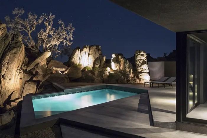 The Black Desert House swimming pool
