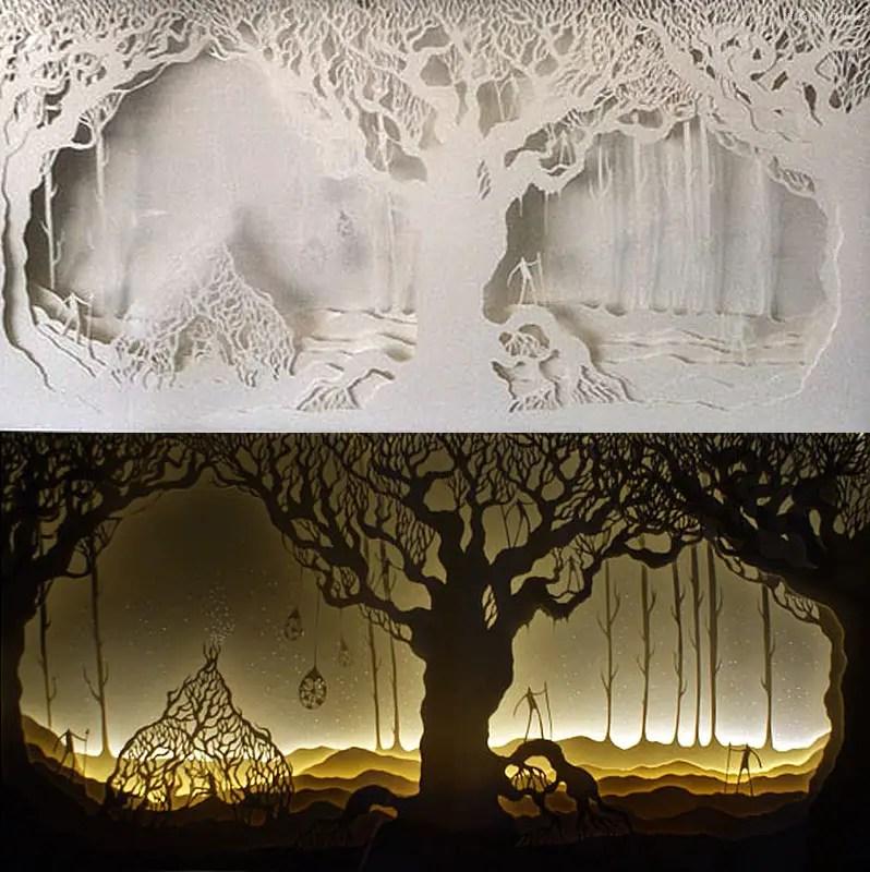 tree of life unlit and lit IIHIH