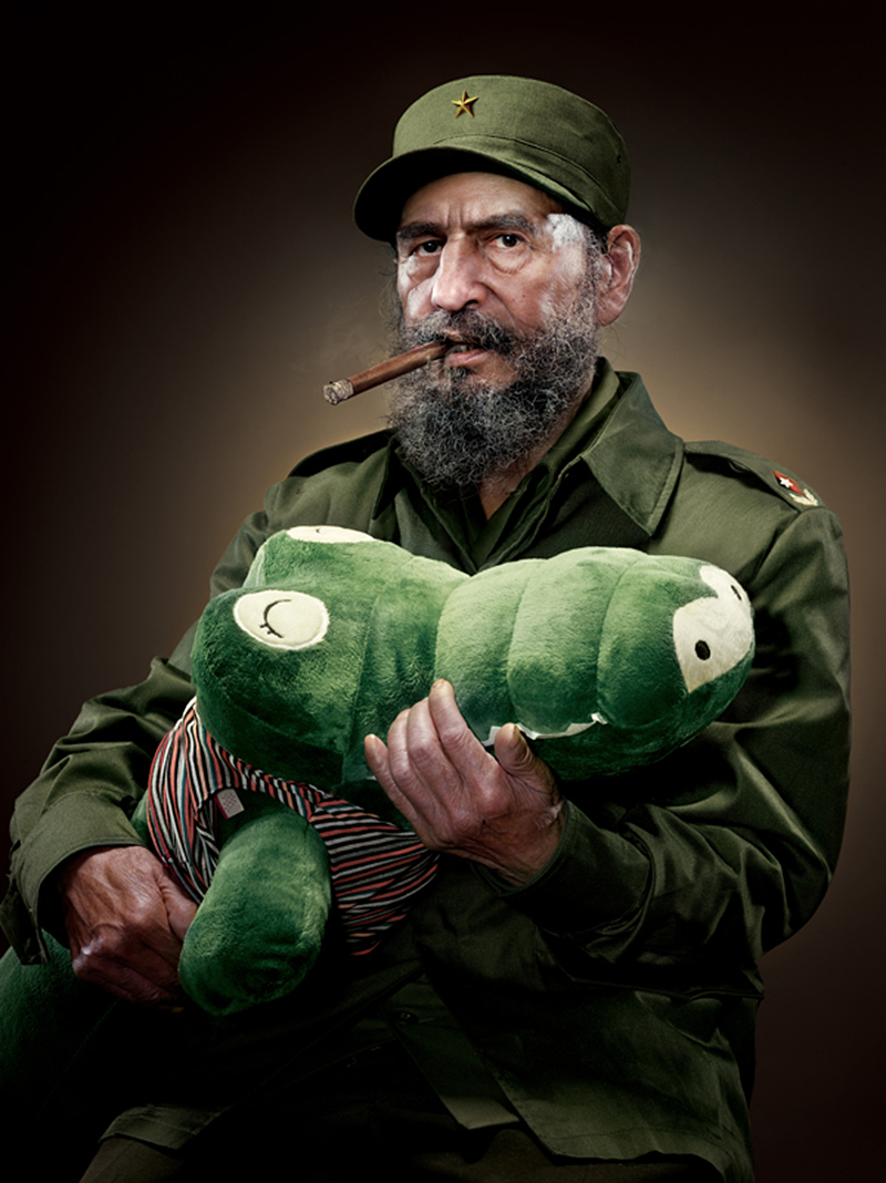 Fidel Castro with plush alligator IIHIH