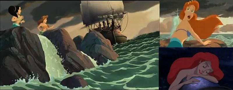 Ariel's mom Queen athena the pirate ship IIHIH