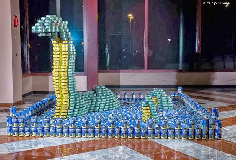 Canstruction Silman-The LoCANess Monster-2