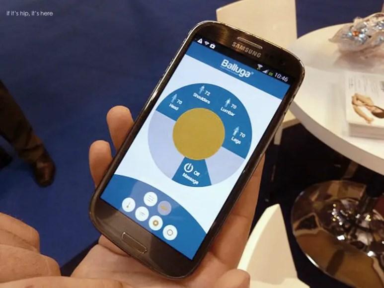 balluga-smart-bed-app on phone