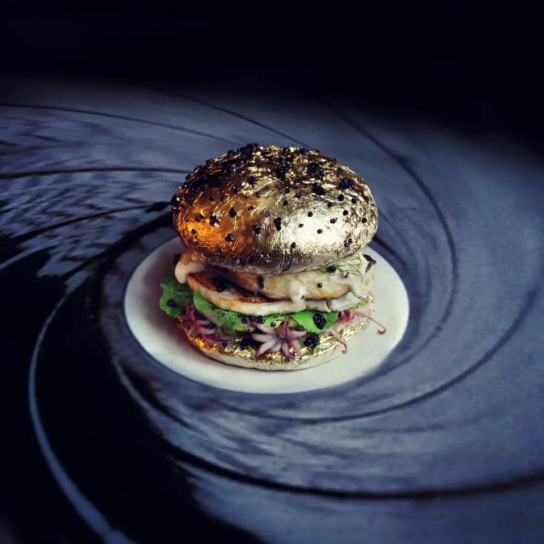 gold bun bond burger