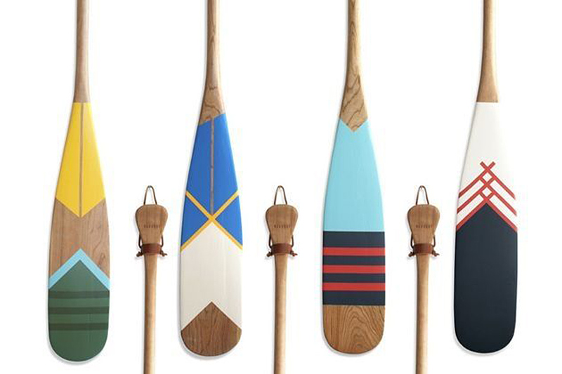 Hand Painted Cherry Wood Artisan Canoe Paddles From