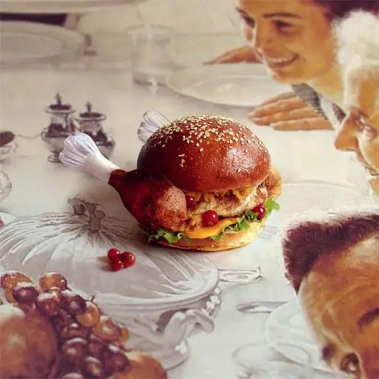 norman rockwell burger