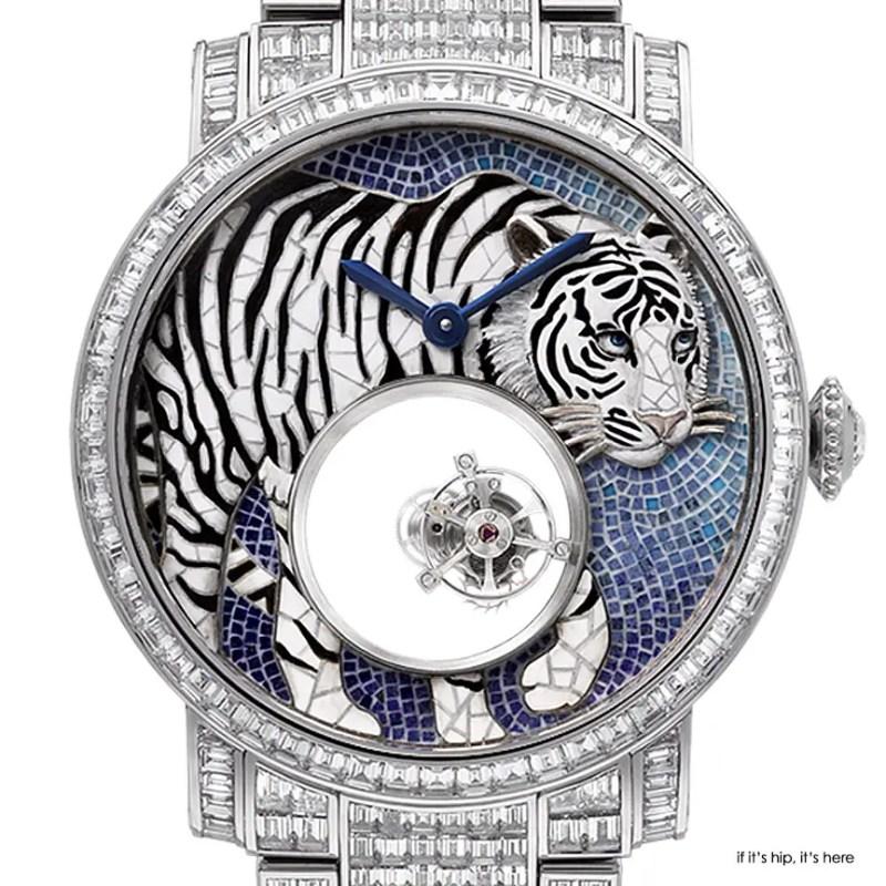 Cartier d'art Watch bengal tiger closeup IIHIH
