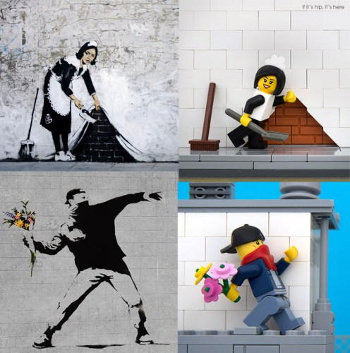 Read more about the article Bricksy: Banksy Art Recreated In Lego
