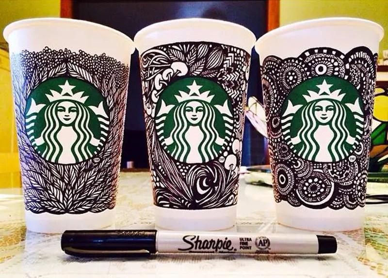 Starbucks Unveils The White Cup Contest Winning Design