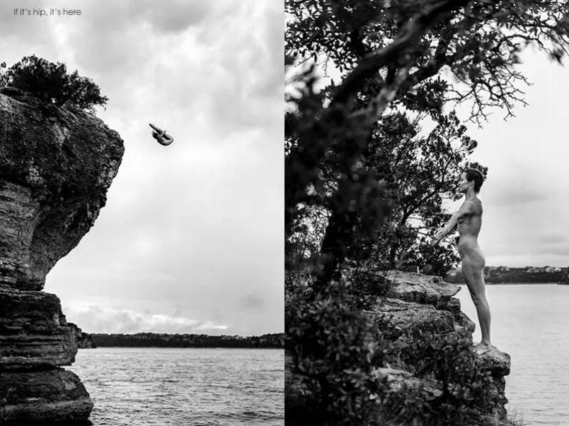 Cliff Diver Ginger Huber by Dean Tremi IIHIH