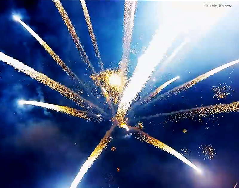 Fireworks Filmed By A Drone
