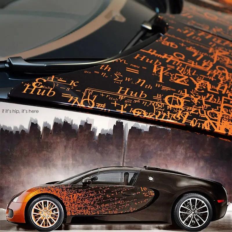 The Bugatti Veyron Grand Sport by Artist Bernar Venet. - if it's hip on
