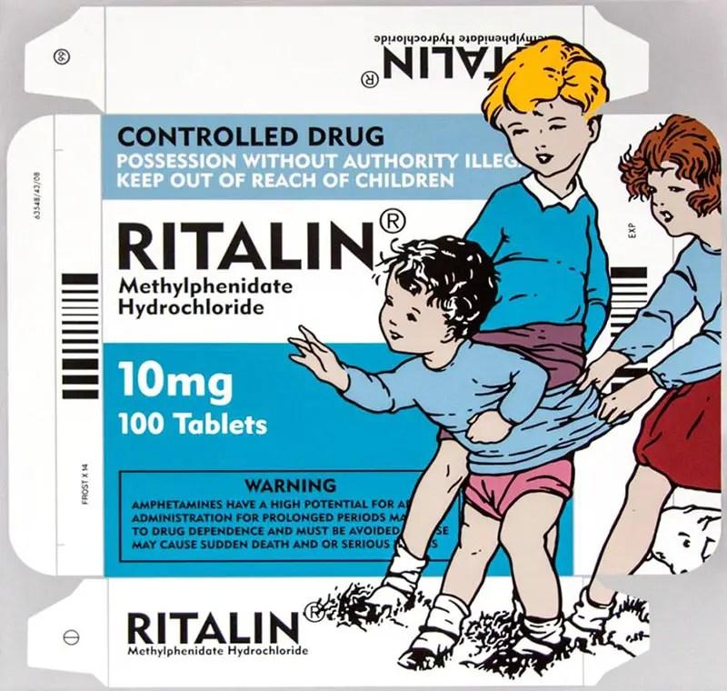 Kids on Ritalin Aerosol stencil on board 40 inches x 40 inches