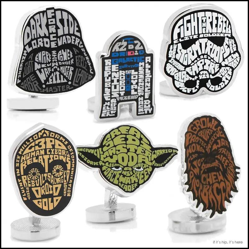 Star Wars Typography Cuff Links