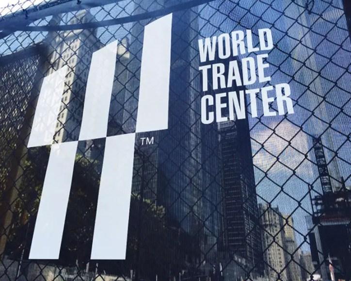 world-trade-center-logo on construction fence