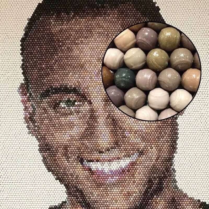 Derek Jeter Baseball Mosaic