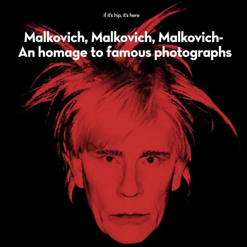 John Malkovich homage to famous photos