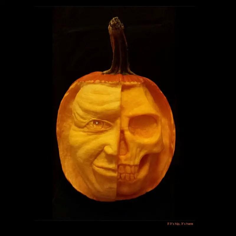 29 Mulitiple personality pumpkin carving