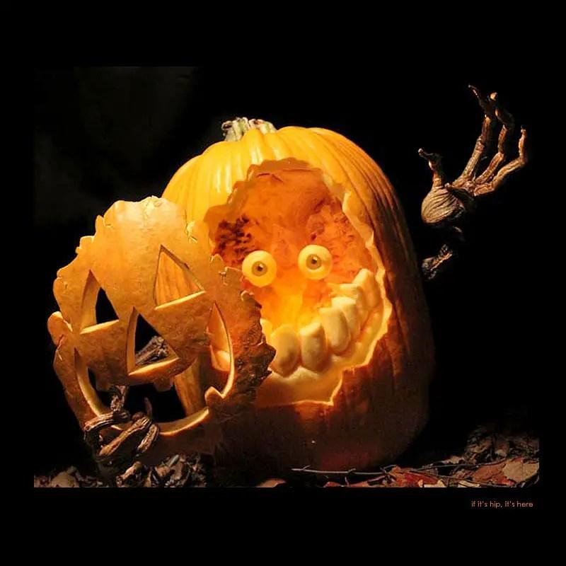 3. Mask pumpkin carving