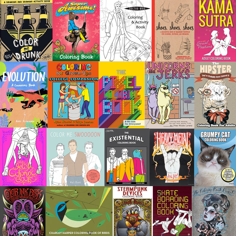The Coolest Coloring Books For Grown-Ups Part IV – 40 New Ones! – If It's  Hip, It's Here