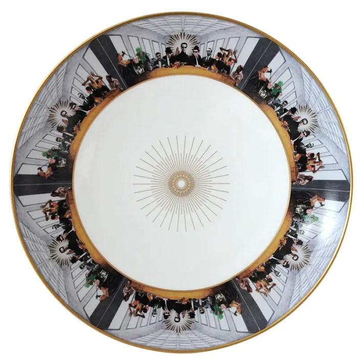 Keanu reeves in The Matrix bernardaud plate 800px